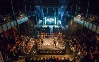 Halle Wrestling Vogelperspektive